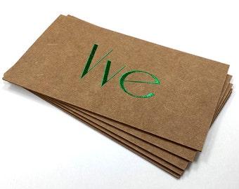 Kraft business cards Etsy