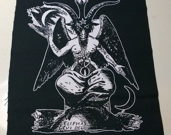BAPHOMET BACKPATCH satan demon satanism black metal punk witch evil