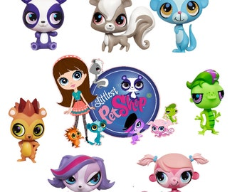 Littlest Pet Shop Set Of 7 Removable Wall Decal Stickers With Free Group  Shot Part 40