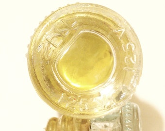 Yellow Fuse Bottle Stopper - upcycled vintage glass fuse