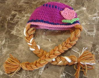 Spring Princess Hat with Braids [Anna inspired]