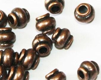 40 pcs Copper Bead Spacers 5 mm, Lead, Nickel & Cadmium Free Jewelry Findings, metal findings