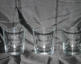 Personalised Hand Engraved Whiskey Glass Engraved With Wedding Names And Date