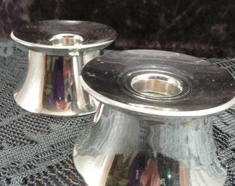 Antique Gorham sterling silver weighted candle holders, vintage sterling silver candleholders by Gorham