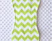 Gender Neutral Burp Cloth // Baby Girl Burp Cloth // Baby Boy Burp Cloth // Lime Chevron Burp Cloth // Chevron Burp Cloth / Baby Shower Gift