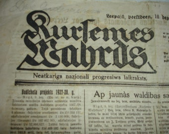 old newspaper 10 December 1926