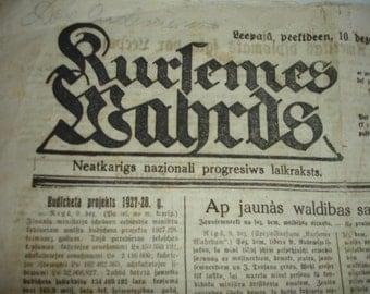 old newspaper 10 December 1926