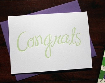 Letterpress Congratulations Card