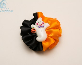 halloween hair clip - ponytail holder with ghost
