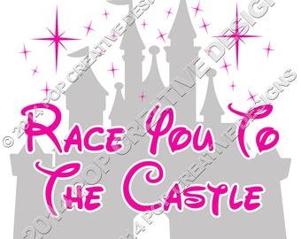 Run Disney Inspired Race Iron On Transfer