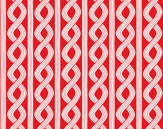 Half Yard True Blue - Seersucker Twist in Red - Cotton Quilt Fabric - Nautical Fabric designed by Ana Davis for Blend Fabrics (W1853)