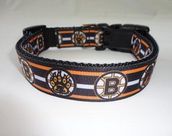 Boston Bruins Dog Collar - Adjustable