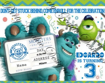 invitation for Party Monsters University