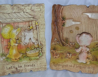 Sale: 1970's Holly Hobby 3D Wall Plaques| 2