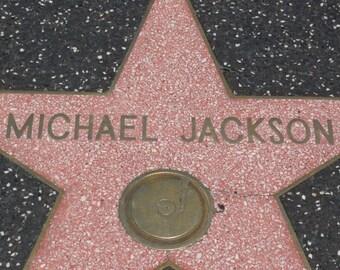Walk of Michael Jackson - Hollywood Walk of Fame Photograph - Los Angeles Photography - Hollywood Wall Art Decor