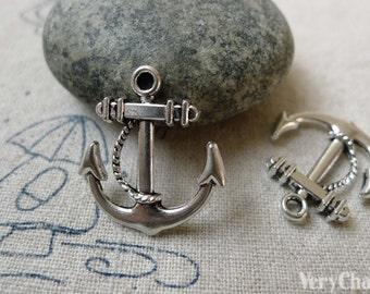 20 pcs Antique Silver Anchor Charms Pendant 20x23mm A6523