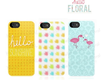 Flamingo, Typography and Colourful iPhone 4/4S 5 5c 5s Samsung Galaxy S2 S3 S4 Ace iPod Touch 4th 5th hard case