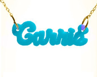 "Acrylic name necklace ""Carrie"" (NP30539AC) gpss"