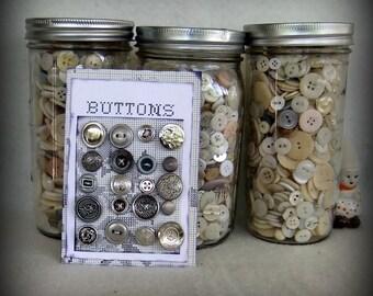 Silver-Colored Metallic Button Collection