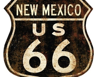 Route 66 New Mexico Distressed Wall Decal #40920
