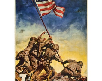 Now All Together Iwo Jima WWII Wall Decal #48346