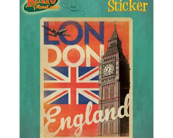 London England Flag Big Ben Vinyl Sticker - #47924