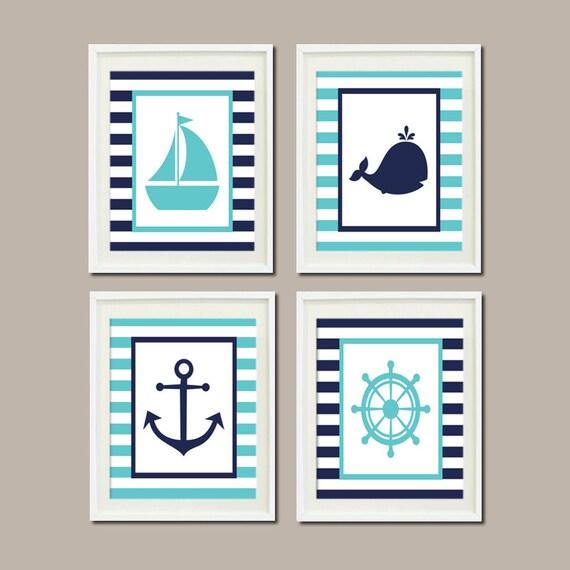 nautical nursery decor wall art aqua breeze by lovelyfacedesigns. Black Bedroom Furniture Sets. Home Design Ideas