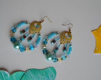 Beaded earrings pendants