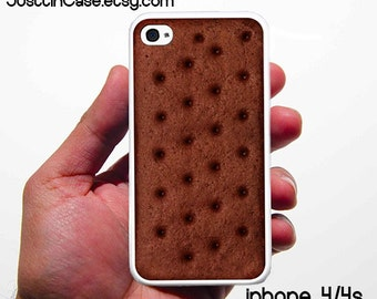 Ice Cream sandwich Iphone 4 and 4s Case White silicon Rubberiphone 5 case  iphone 5s case Rubber Silicone gear for iphone cases .
