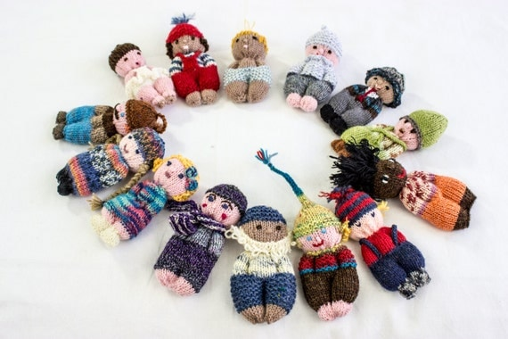Knitting Patterns For Very Small Dolls : Knitted Amigurumi Dolls Small Knitted Dolls by heaventoseven