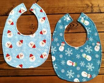 Baby Bibs - Set of 2 - Winter Holiday