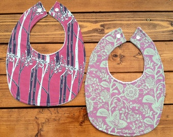 Baby Bibs - Set of 2 - Mulberry Forest