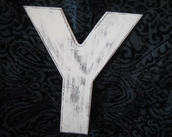 Distressed wood Y, wood letter Y, 3D letter Y, shabby Y