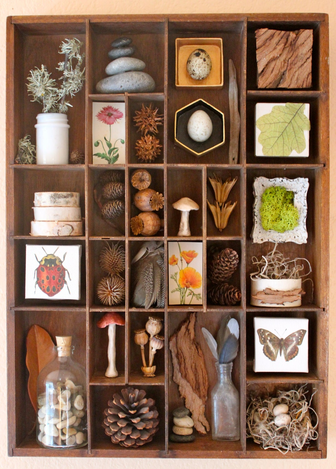 Found objects assemblage art organized nature for Found furniture