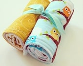Burp Cloths - Set of 2 - Handmade