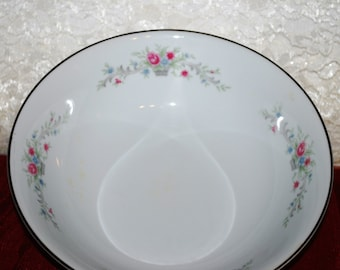 "Florentine China Japan Fantasia Pattern Round  Flowered 9"" Footed Serving Bowl"