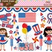 40% Off! July 4th/Patriotic Digital Clip Art Instant Download