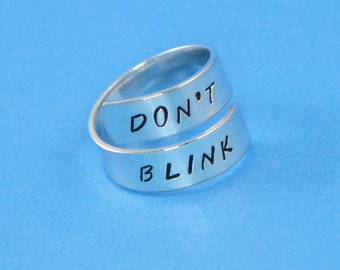 Don't Blink Wrap Ring - Dr Who Inspired
