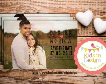 Personalised Photo Invitation, Save-the-Date, Wedding Invitation, Casual, Custom print,