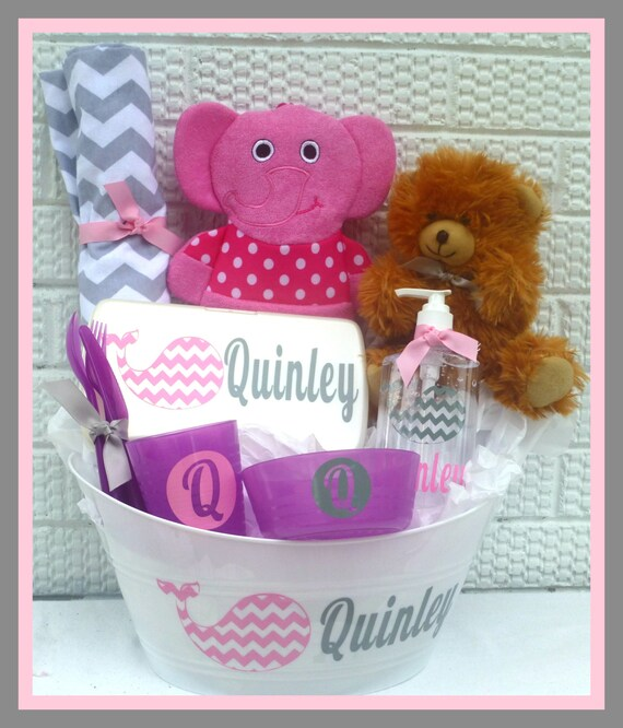 Baby Gift Item : Items similar to personalized baby basket boy gift