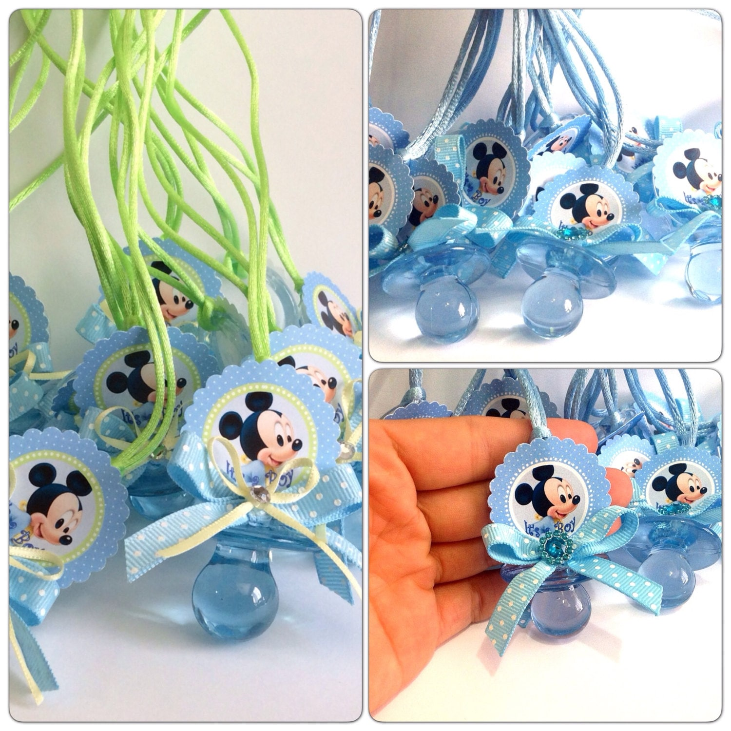 12 mickey mouse baby shower pacifiers mickey mouse baby for Baby mickey decoration ideas