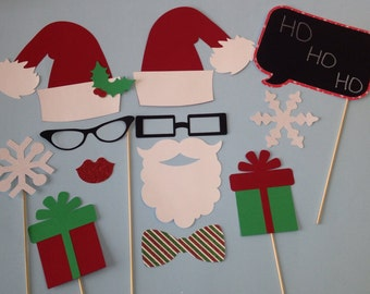 12 Piece Holiday Photobooth Prop Set