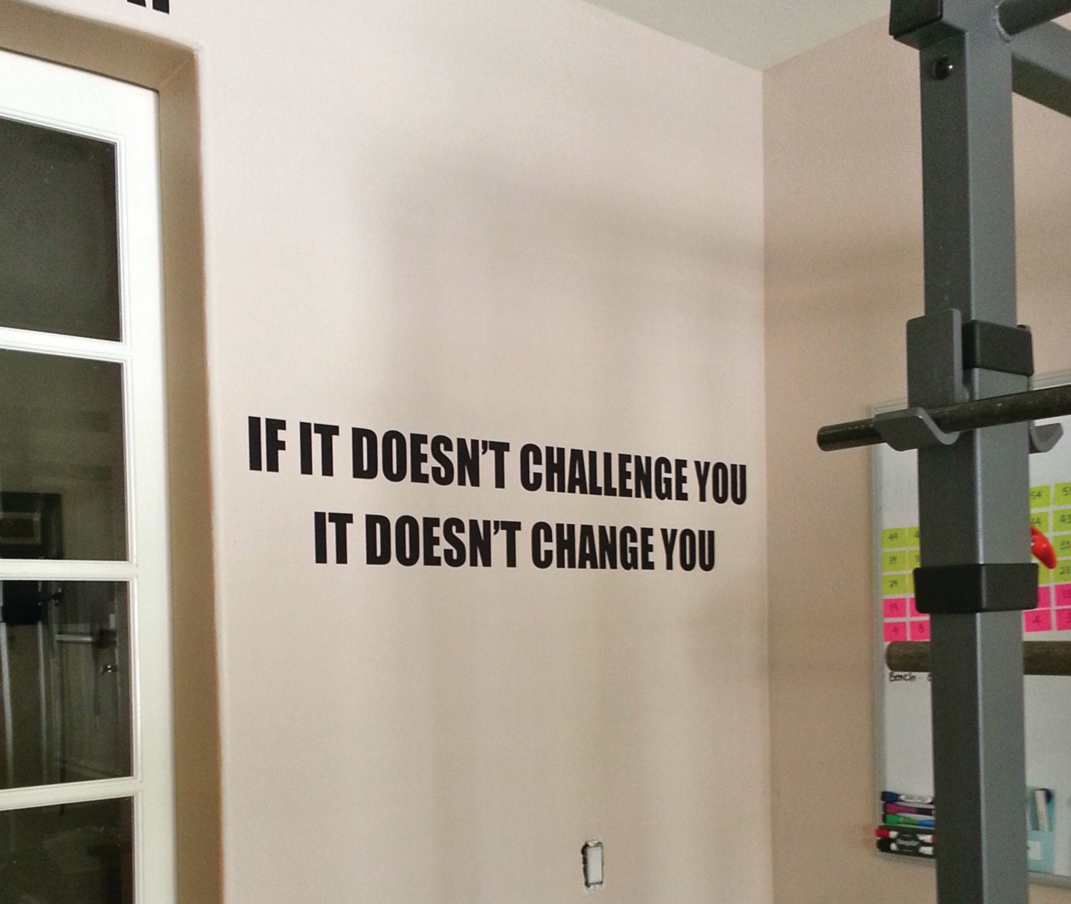 Fitness decor gym motivation decal work out sticker if it