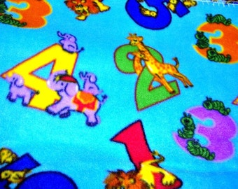 Animals Counting Numbers Fleece Throw Blanket