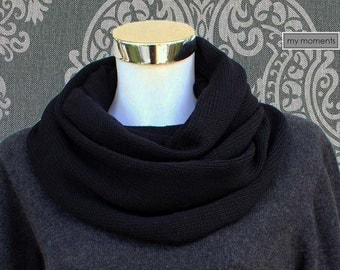 CIRCLE SCARF / SNOOD Merino black