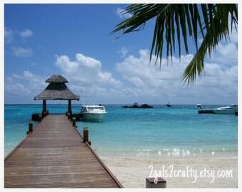 Island Photography, Maldives, Baros Resort, Island Pier, Fine Art, Home Decor