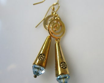 Golden Dune Cone Earrings