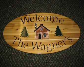 Welcome Personalized Cabin Sign