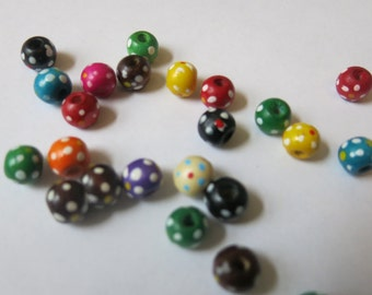 "30pc mixed wooden ""spacer beads"" (JC56)"