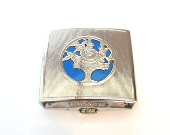 1930's rouge Compact - Silver Tone